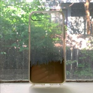 clear iphone case with gold accent for 6/6s/7/8